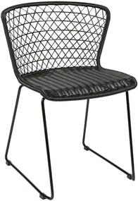 Scaun trendy negru Quadro Chair Black   BE PURE HOME