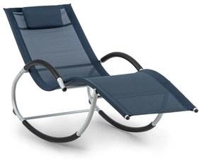 Westwood Rocking Chair, canapea tip leagăn, ergonomică, din aluminiu, albastru închis
