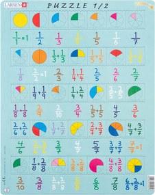 Puzzle Larsen Adunare fracţii, 35 piese