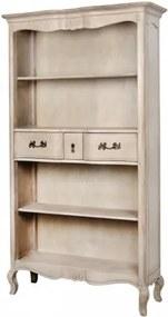 """Biblioteca din lemn de mesteacan cu 3 sertare """"Venezia VE849K"""" Beige, l112xA39xH195 cm"""