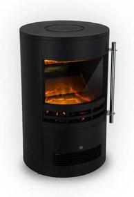 Klarstein Brixen, șemineu electric, 900/1800 W, termostat, InstaFire, negru