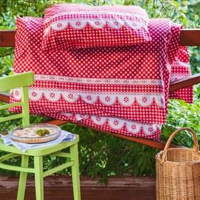 Lenjerie de pat din bumbac Matylda roşie lungime standard