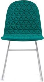 Scaun cu picioare metalice Iker Mannequin V Triangle, turcoaz
