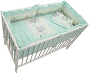 MyKids Lenjerie Teddy Toys Turquoise 4+1 Piese M2 120x60