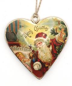 Ornament pentru brad Inima Mos Craciun