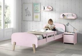 copii pat puștiulică roz barieră