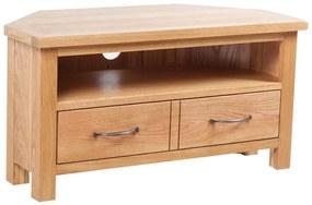 241676 vidaXL Comodă TV cu sertar, 88 x 42 x 46 cm, lemn masiv de stejar