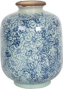 Vaza pentru flori ceramica albastra Ø 10 x 15 h