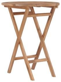 48993 vidaXL Masă de grădină pliabilă, 60 cm, lemn masiv de tec
