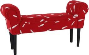 Laviţă, roşu/model/negru, BURDA