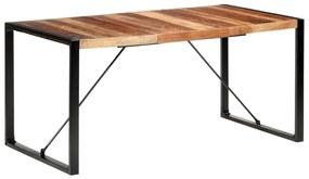 321541 vidaXL Masă de bucătărie, 160x80x75 cm, lemn masiv cu finisaj sheesham
