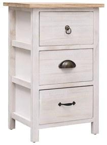 284076 vidaXL Dulap lateral, 35 x 25 x 57 cm, lemn de paulownia