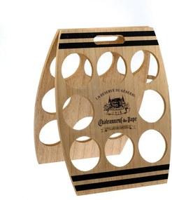 Suport din lemn pentru 8 sticle de vin Dakls, 30 x 38 cm