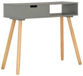 285218 vidaXL Masă consolă, gri, 80 x 30 x 72 cm, lemn masiv de pin