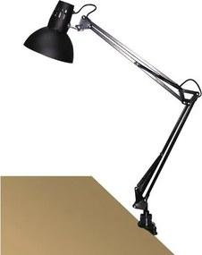 Lampă cu clemă de birou Rabalux 4215 Arno, negru