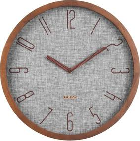 Ceas de perete Karlsson Canvas, ø 35 cm, gri