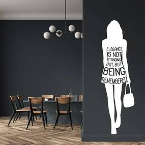 Elegance - autocolant de perete Alb 25 x 80 cm