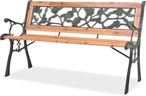 40261 vidaXL Bancă de grădină, 122 cm, lemn