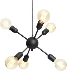 Lustră cu 6 becuri Custom Form Vanwerk Ball, negru