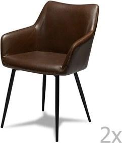 Set 2 scaune Knuds Maria, maro închis