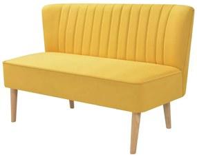 244074 vidaXL Canapea cu material textil, 117 x 55,5 x 77 cm, galben