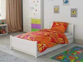 Petr Smolka Lenjerie de pat bumbac pentru pătut Girafă portocaliu