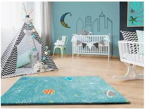 Covor pentru copii Universal Cuore Azul, 100 x 150 cm