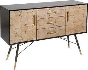 Bufet inferior din lemn de brad 129x40x85 cm Instria Santiago Pons