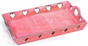 Tava lemn Pink 22,5x15x2,7H cm