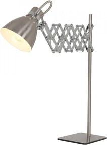 Lampa birou argintie din metal 58 cm Spring