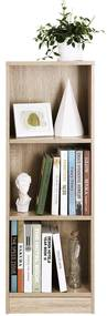 Etajera pentru birou cu 3 rafturi, 40x29x120 cm, Arly, Stejar