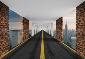 Fototapet - Autostrada 3D New York (254x184 cm), în 8 de alte dimensiuni noi