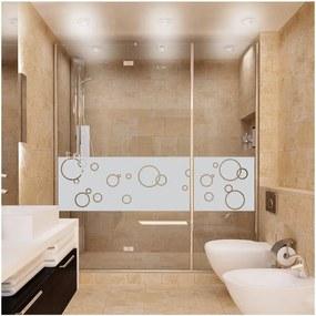 Autocolant rezistent la apă, pentru cabina de duș, Ambiance Bubbles