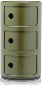 Comoda modulara Kartell Componibili 3 design Anna Castelli Ferrieri, verde
