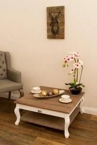 Masuta de cafea Adriana , MDF&Lemn, 35x80x80 cm