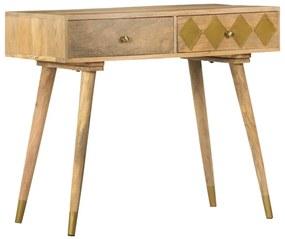 286177 vidaXL Masă consolă, 89 x 44 x 75 cm, lemn masiv de mango