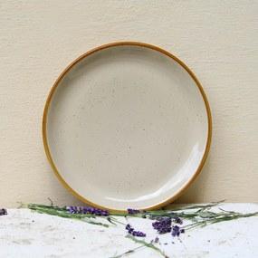 Farfurie intinsa Gardena din ceramica crem 24 cm