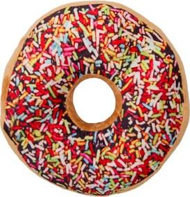 Pernă cu formă aparte Donut topping colorat, 38 cm