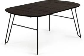 Masa dining extensibila din lemn 140(220)x90 cm Norfort Oval La Forma