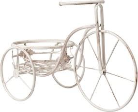 Suport flori bicicleta alb antichizat 54*25*35 cm
