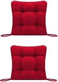 Set Perne decorative pentru scaun de bucatarie sau terasa, dimensiuni 40x40cm, culoare visiniu, 2buc/set