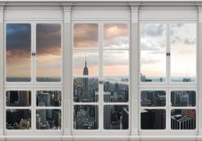 Fototapet - New York  - privire din geam (152,5x104 cm), în 8 de alte dimensiuni noi