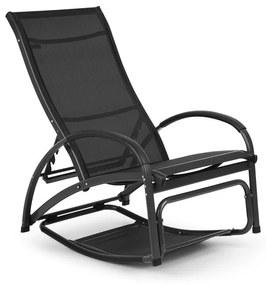 Beverly Wood, leagăn de soare, scaun balansoar, aluminiu, negru