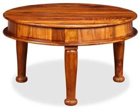245158 vidaXL Măsuță de cafea, lemn masiv de sheesham, 70 x 70 x 40 cm