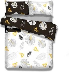 Lenjerie de pat din flanel AmeliaHome Floral Rain, 140 x 200 cm