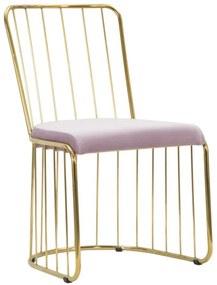 Set 2 scaune CAGE ROSE (cm) 47X56X82