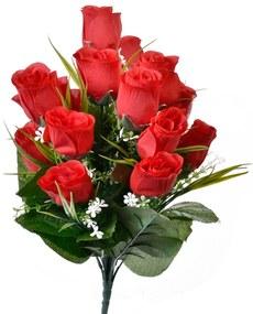 Buchet trandafiri artificiali, 40 cm