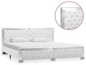 286792 vidaXL Cadru de pat, alb, 180 x 200 cm, piele ecologică