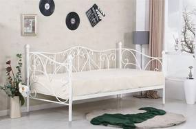 Pat / divan din metal alb Sumatra