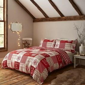 """Lenjerii de pat cu model de Crăciun Catherine Lansfield """"Let it Snow"""", 200 x 200 cm"""